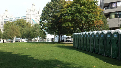 Portable Toilets at Tower Bridge